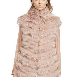Fur Coat Vest BCBG MAXAZRIA DARAH FUR VEST SZ XXS